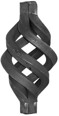 Кованый элемент корзинка арт. 20-40/3 - фото 1