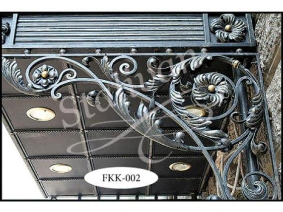 Кованый козырек FKK-002 - фото 1