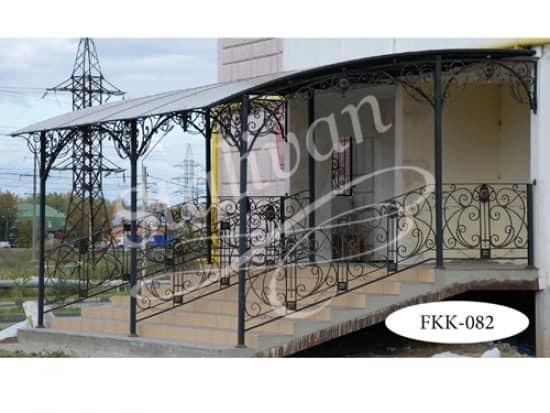 Навес кованый односкатный FKK-082-1 - фото 1