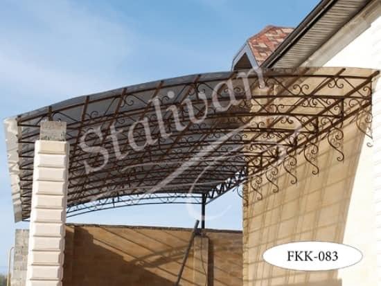 Односкатный кованый навес FKK-083 - фото 1