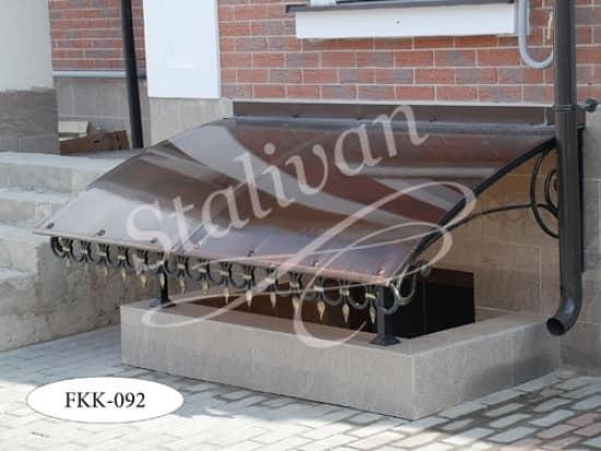 Навес кованый FKK-092 односкатный - фото 1