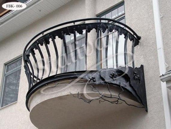 Ажурное кованое ограждение балкона FBK-006 - фото 1