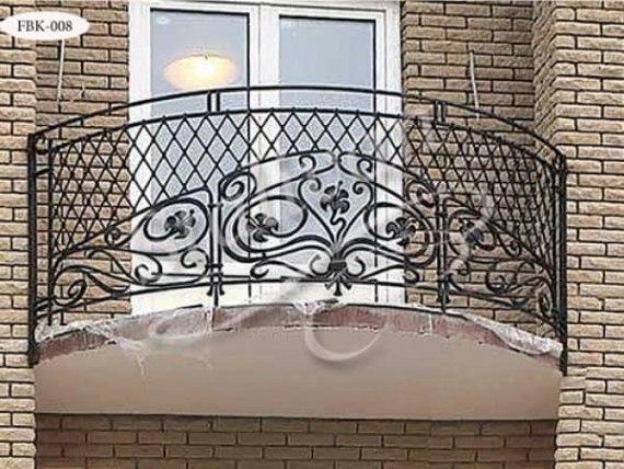 Ажурный кованый балкон FBK-008 - фото 1