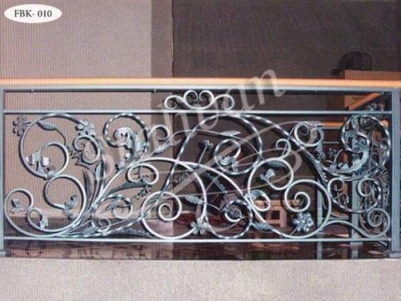 Ажурное кованое ограждение балкона FBK-010 - фото 1
