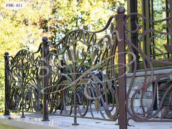 Ажурный кованый балкон FBK-011 - фото 1