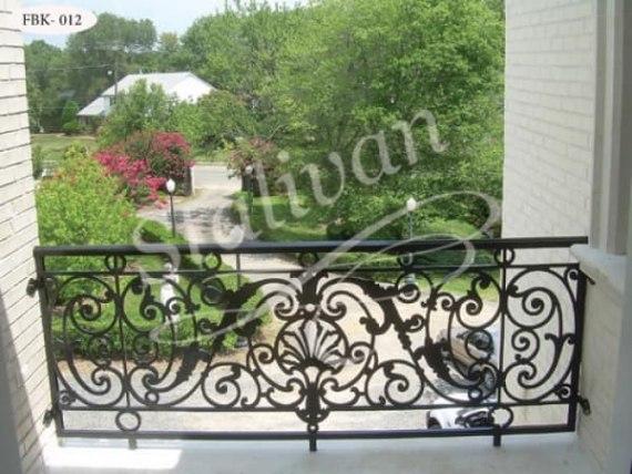 Ажурное кованое ограждение балкона FBK-012 - фото 1