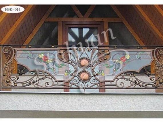 Кованое ограждение балкона FBK-014 - фото 1