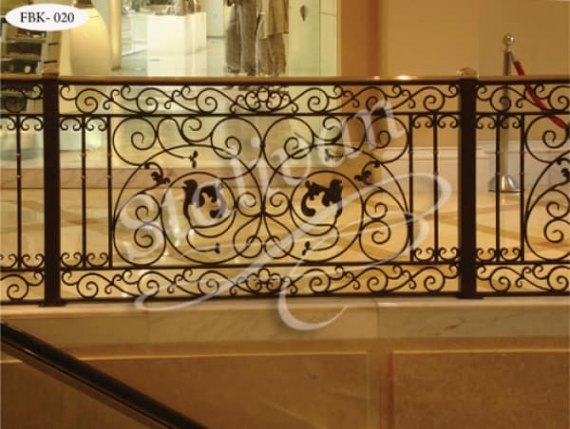Кованое ограждение на балкон FBK-020 - фото 1