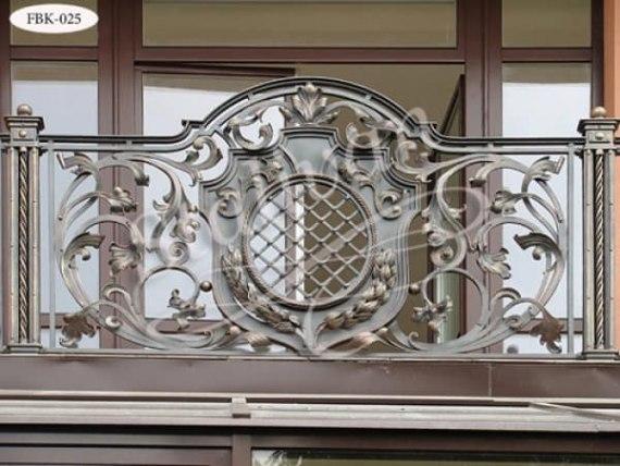 Балконное ограждение с ковкой FBK-025 - фото 1