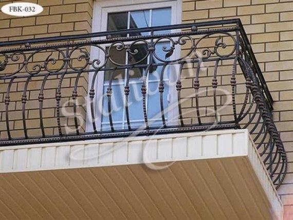 Кованое ограждение балкона FBK-032 - фото 1
