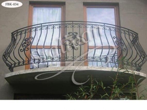 Кованое балконное ограждение FBK-034 - фото 1