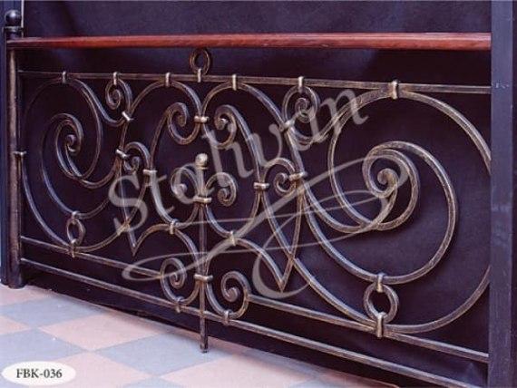 Кованый балкон FBK-036 - фото 1