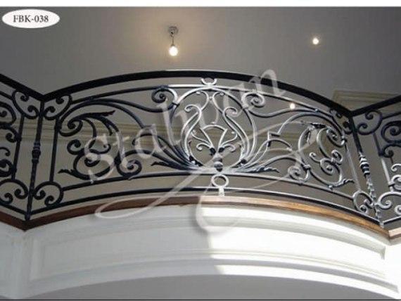 Ажурный кованый балкон FBK-038 - фото 1
