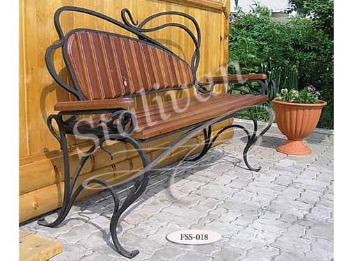 Кованая скамейка FSS-018 - фото 1