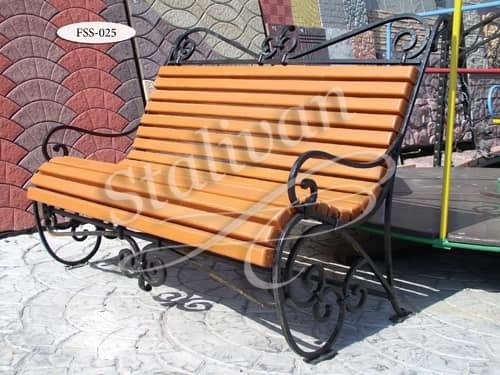 Кованая скамейка FSS-025 - фото 1