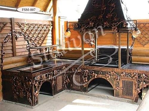 Мангал с элементами ковки FSM-007 - фото 1