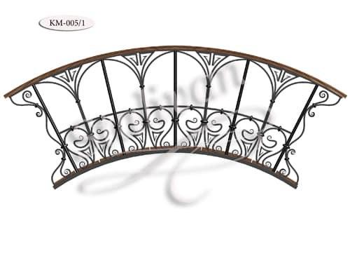 Садовый мостик с ковкой KM-005/1 - фото 1
