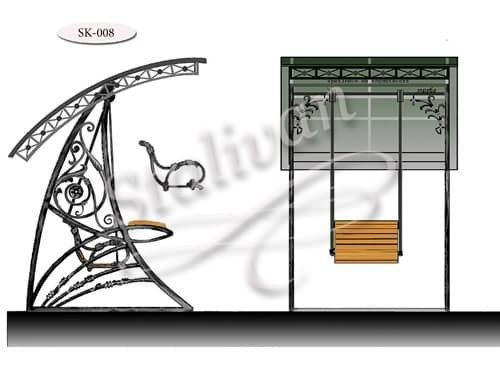 Качели с художественной ковкой SK-008 - фото 1