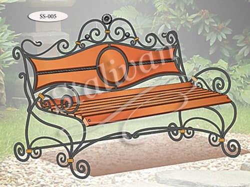 Кованая скамейка SS-005 - фото 1