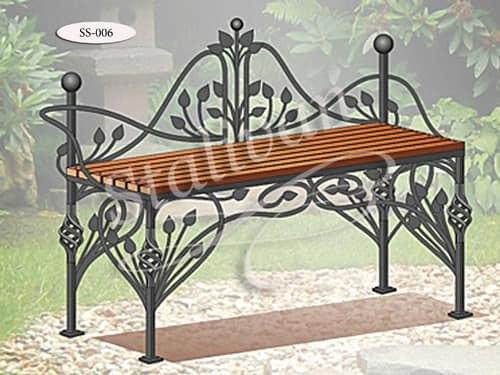 Скамейка с ковкой SS-006 - фото 1