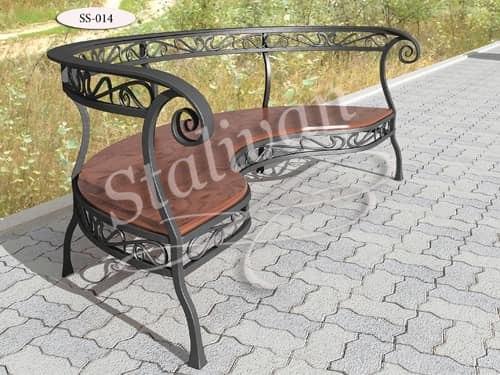 Кованая скамейка SS-014 - фото 1