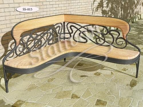 Скамейка с ковкой SS-015 - фото 1