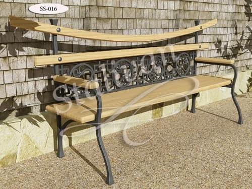 Скамейка с художественной ковкой SS-016 - фото 1