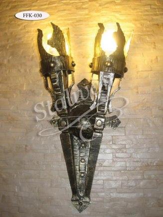 Настенный кованый фонарь FFK-030 - фото 1