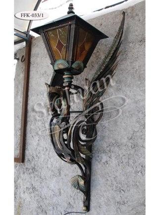Настенный кованый фонарь FFK-033/1 - фото 1