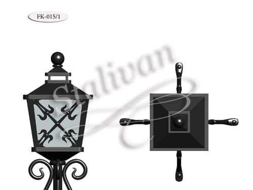 Кованый фонарь FK-015/1 - фото 1