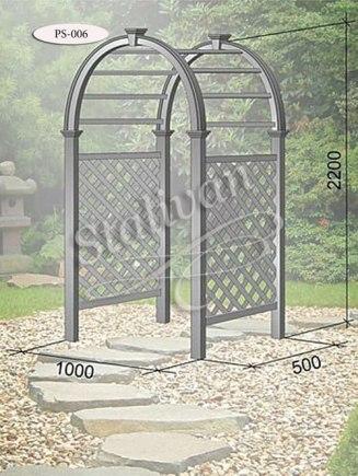 Садовая пергола с ковкой PS-006 - фото 1