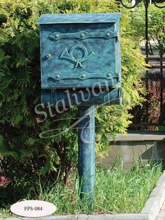 Кованый стационарный почтовый ящик FPS-084 - фото 1