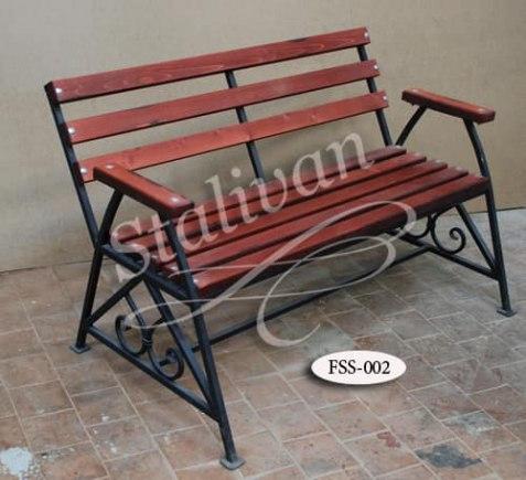 Кованая скамейка FSS-002 - фото 1
