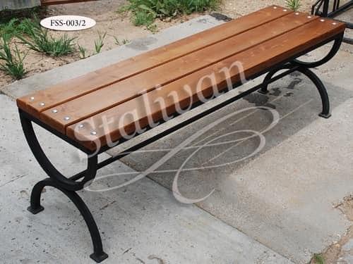 Кованая скамейка FSS-003/2 - фото 1