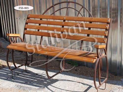 Скамейка с элементами ковки FSS-005 - фото 1