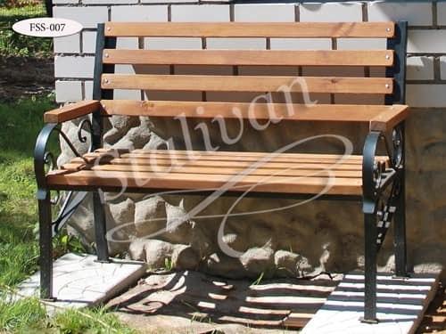 Скамейка с художественной ковкой FSS-007 - фото 1