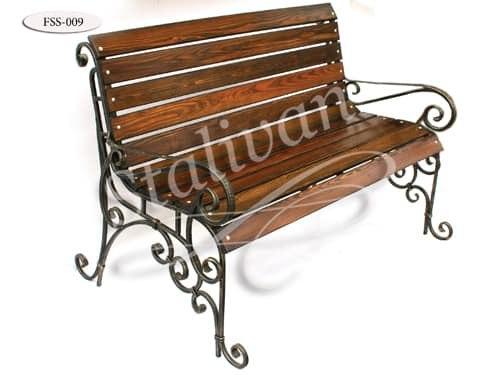 Скамейка с художественной ковкой FSS-009 - фото 1
