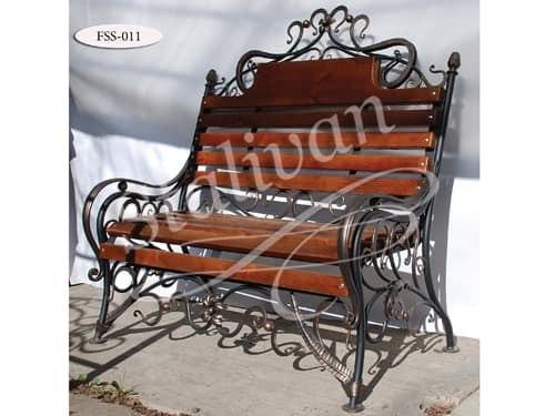 Скамейка с ковкой FSS-011 - фото 1