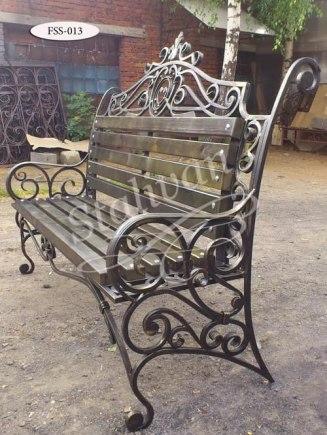 Скамейка с художественной ковкой FSS-013 - фото 1