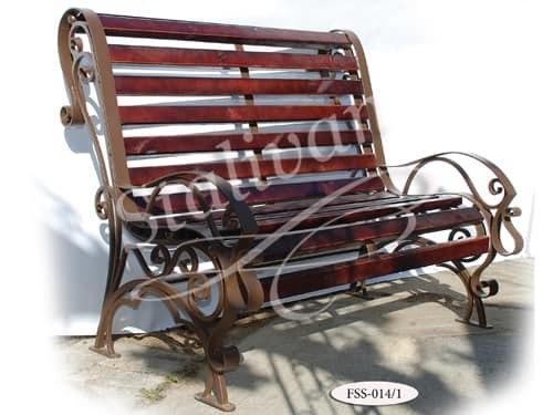 Скамейка с ковкой FSS-014 - фото 1