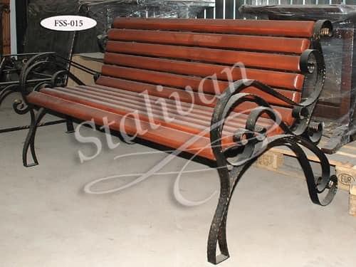 Скамейка с художественной ковкой FSS-015 - фото 1