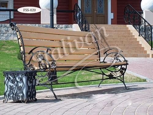 Скамейка с ковкой FSS-020 - фото 1