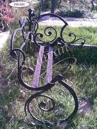 Скамейка с художественной ковкой FSS-024 - фото 1