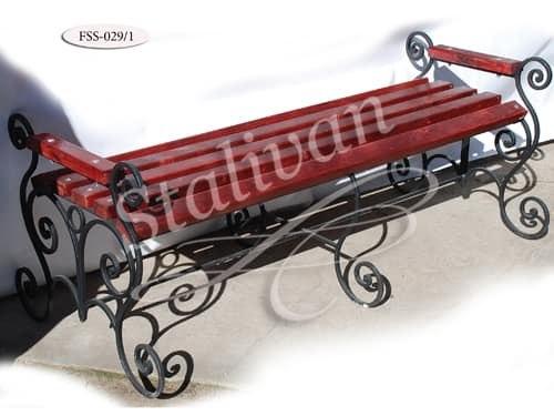 Скамейка с художественной ковкой FSS-029/1 - фото 1