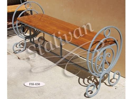 Скамейка с художественной ковкой FSS-030 - фото 1