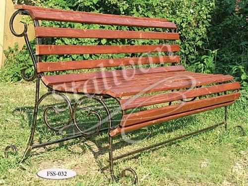 Кованая скамейка FSS-032 - фото 1