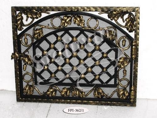 Кованая решетка для камина FPI-362-1 - фото 1