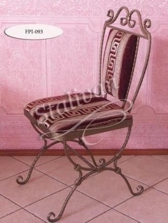 Кованый стул с мягким сиденьем и спинкой FPI-093 - фото 1