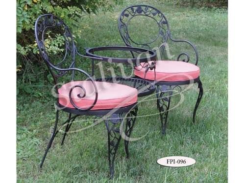Кованый стул с узорной спинкой FPI-096 - фото 1