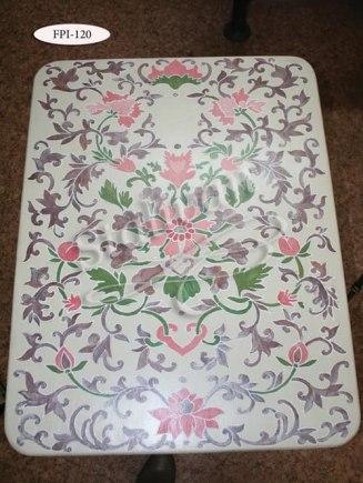 Кованый стол с росписью FPI-120 - фото 1